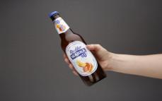 Porcja bezalkoholowego napoju piwnego Radler o smaku grejpfruta i pomarańczy