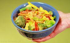Porcja Karaibskich warzyw na patelnię z sosem