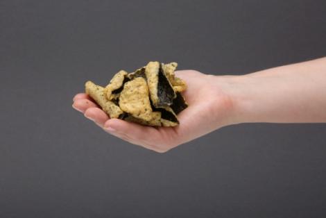 Chipsy z alg morskich prażone w tempurze