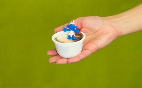 Deser o smaku czekoladowo - waniliowym z niespodzianką