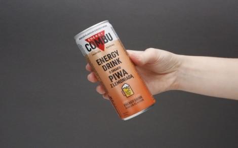 Gazowany napój energetyzujący o smaku piwa z lemoniadą