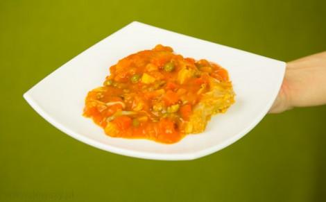 Porcja filetów z karpia po grecku