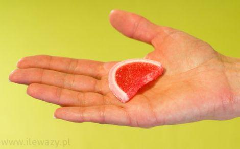 Galaretki o smaku owocowym w cukrze