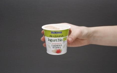 Jogurt bio truskawkowy z komosą ryżową