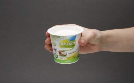 Jogurt kokosowy naturalny PlantON z cukrem