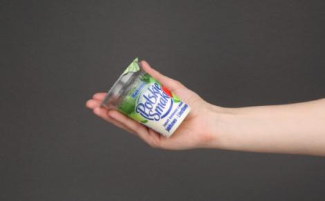 Jogurt kremowy z musem jabłkowo-limetkowym (jabłka 8%, limetki 1%)