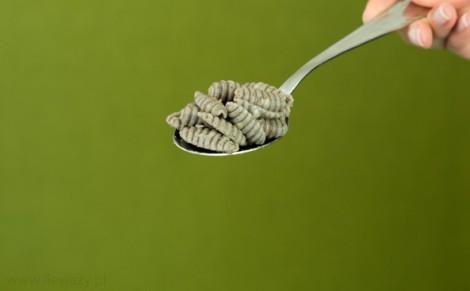 Makaron gryczany gnocchi ugotowany