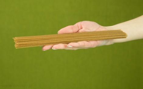 Makaron spaghetti orkiszowy razowy