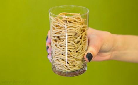 Makaron graham spaghetti ugotowany