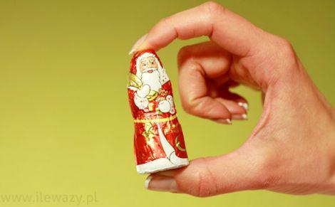 Mikołaj mini z czekolady mlecznej