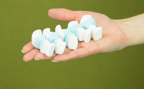 Pianki marshmallows Smerfy