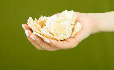 Wafle ryżowe z czerwonym buraczkiem