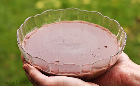 Budyń o smaku czekoladowym po przygotowaniu