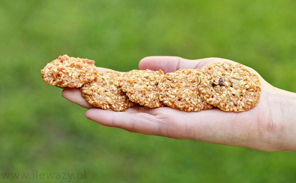 Ciasteczka bakaliowe z żurawiną