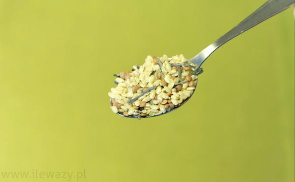Ryż z algami i soczewicą